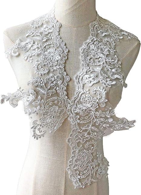 Corded Lace Trim Double Border Corded Lace Edge Scalloped Lace Edge White Corded Lace Trim Remnant Floral Lace Edge