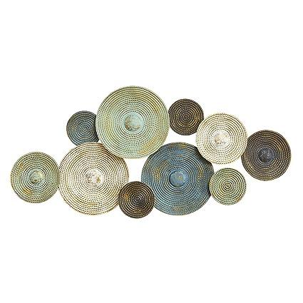 Amazon.com: Stratton Home Decor S07662 Asheville Textured Plates ...