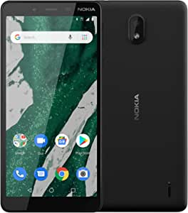 Nokia 1 Plus Android 9 Go Edition Smartphone (Official Australian Version) 2019 4G Unlocked Mobile Phone with OS Updates and Bright Screen, 8GB, Black
