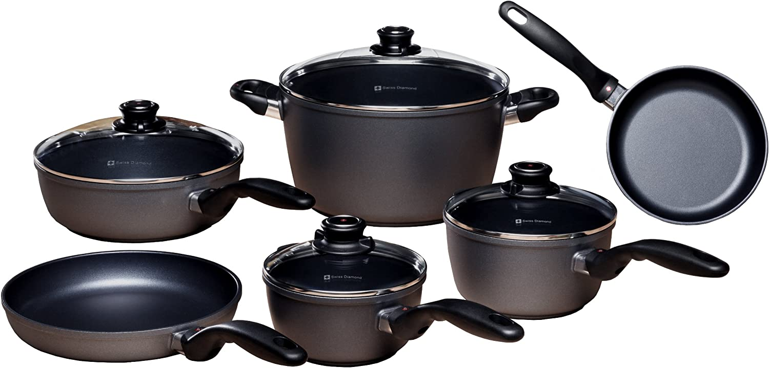 Swiss Diamond induction cookware suitable for Gas stove, Ceramic Stove and Halogen