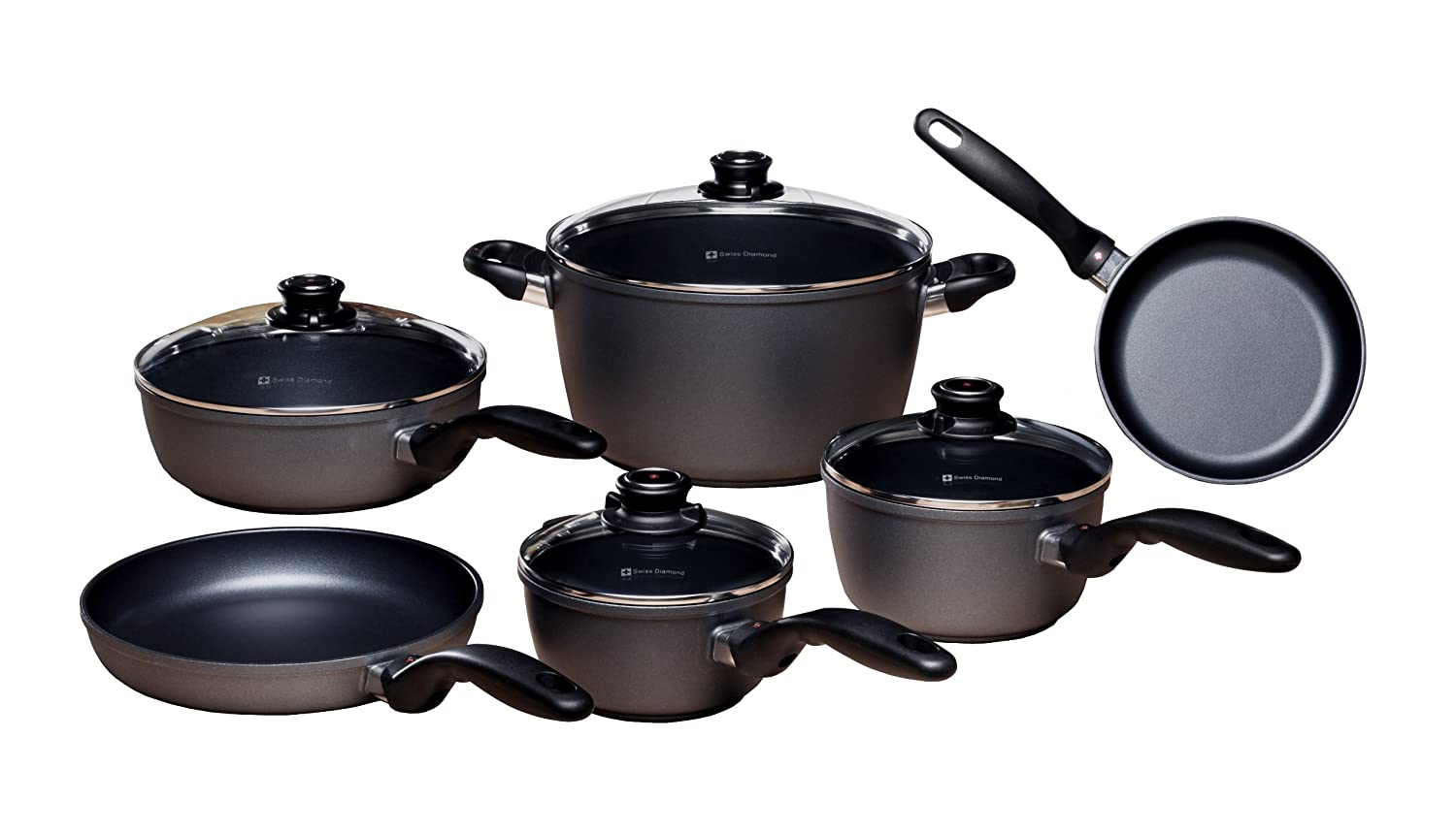 Swiss Diamond HD Classic 10 Piece Set: Ultimate Kitchen Kit