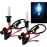 Mega Racer H7 Xenon HID Conversion Bulb 30000K Dark Blue Light (Low Beam Headlight) Replacement (Ballast Require) USA