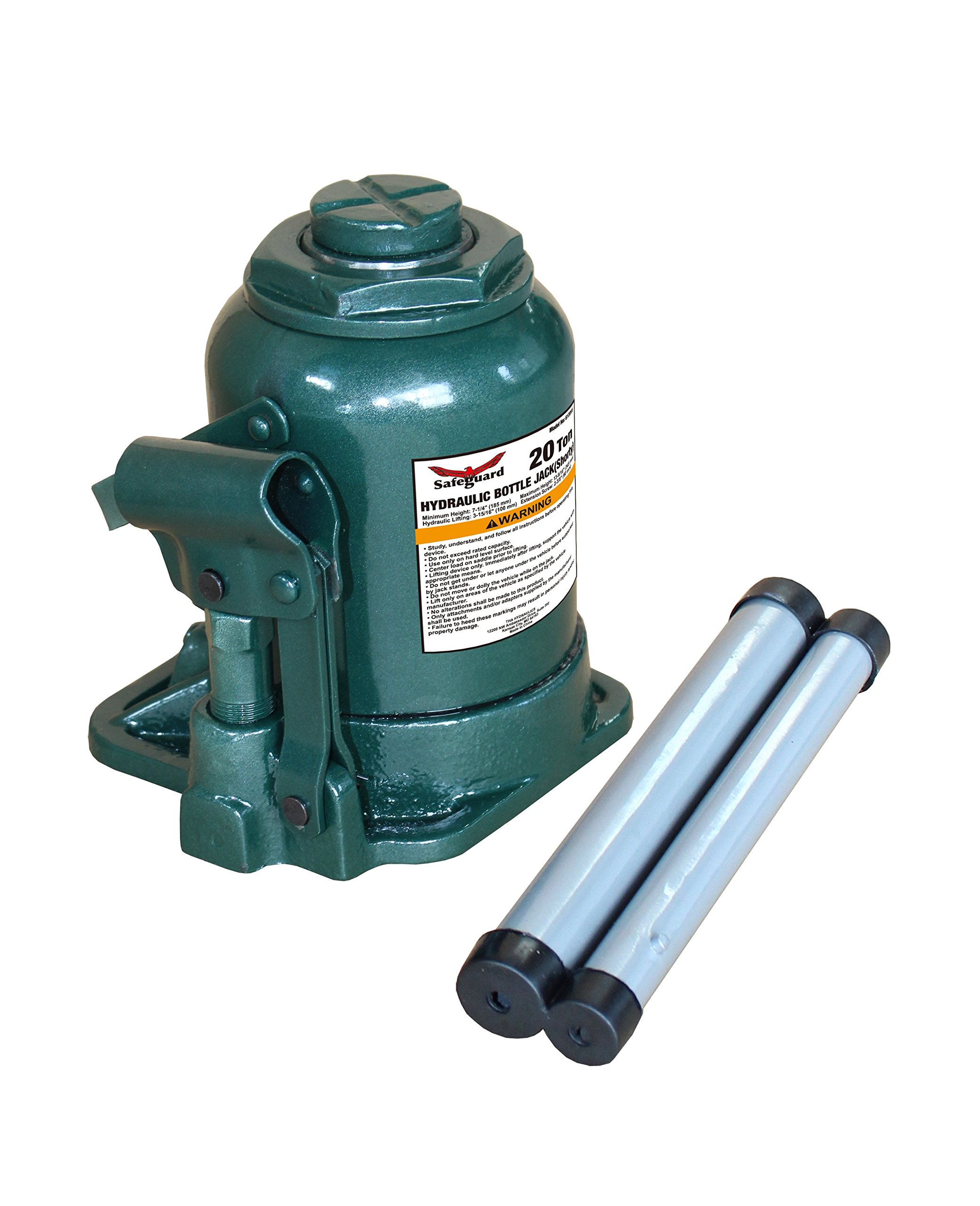 Strong Hold 61061 20 Ton Shorty Casted Bottle Jack, Green