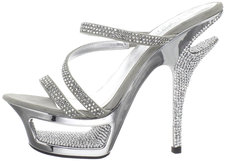 Pleaser Women's Deluxe-603/LGYS Sandal B005NCJW2M 5 B(M) US Light Grey Suede