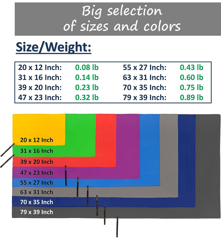 Amazon.com : Fit-Flip Microfiber Towel in 8 Colors + Bag - Small ...
