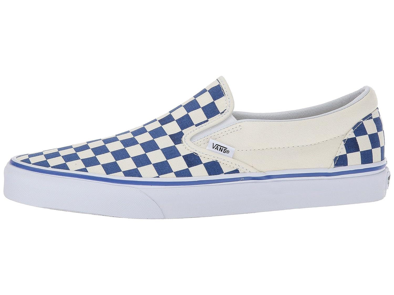 Vans Unisex 7.5 Classic Slip-On Shoes B07819Y18Y 7.5 Unisex M US Women / 6 M US Men ( Primary Checker) True Blue / White 22682b