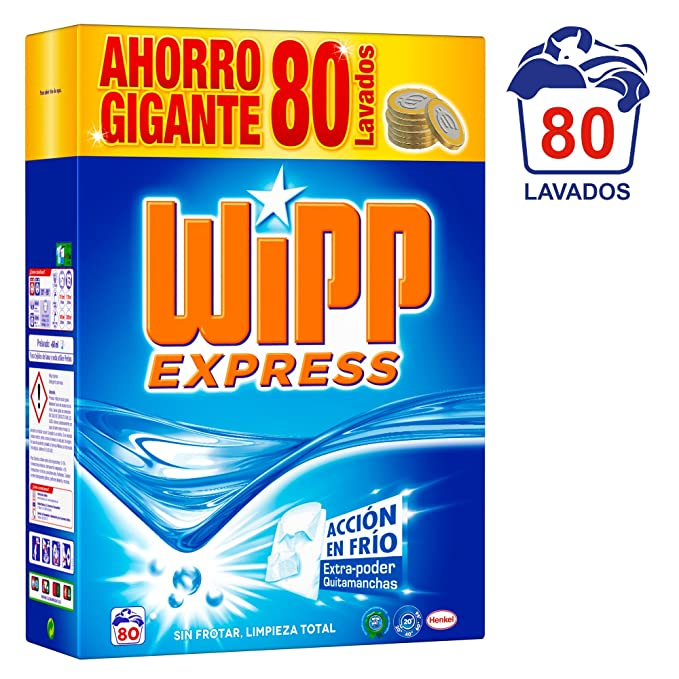 WiPP Express Detergente en Polvo - 80 Lavados (5,2 Kg)