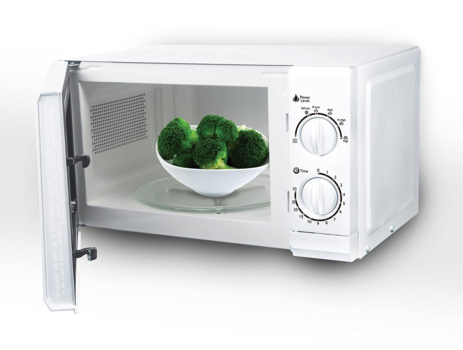 Impecca CM0674 700-Watts Countertop Microwave Oven, 120V 0.6 Cubic Feet, White
