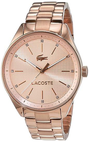 Lacoste - Reloj analógico para mujer, pulsera bañada en oro - 2000899: Amazon.es: Relojes