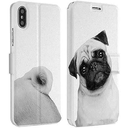 10fb27eed15f6 Amazon.com: Wonder Wild Cute Pug iPhone Wallet Case 10 X/Xs Xs Max ...