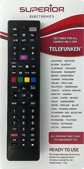 Superior - Mando a distancia universal de repuesto para todas las TV y Smart TV de la marca Telefunken & VESTEL: Amazon.es: Electrónica