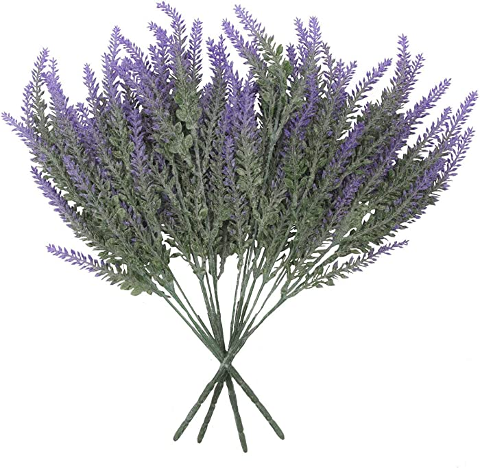 Houseables Faux Lavender, Artificial Flowers, Purple, 4 Bundles, Plastic, Fake Plant, Decor, Modern, Mantel Decorations, For Indoor, Outdoor, Home, Bedroom Accessories, Kitchen, Fireplace, Living Room