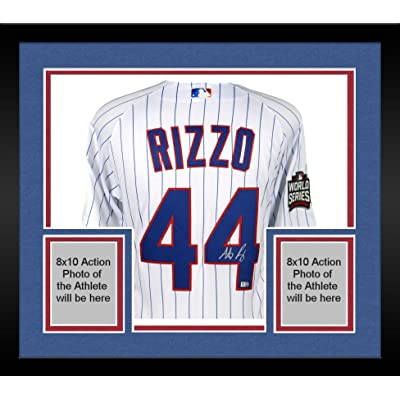 innovative design 74607 97d89 Framed Anthony Rizzo Chicago Cubs 2016 MLB World Series ...