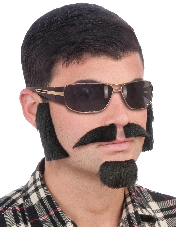 Forum Novelties Men's Facial Hair Disguise Kit Black One Size Forum Novelties Costumes 67183