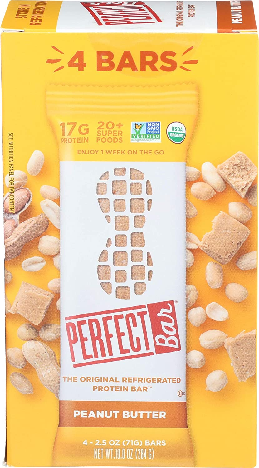 Perfect Bar, Protein Bar Peanut Butter Organic, 2.5 Ounce, 4 Count