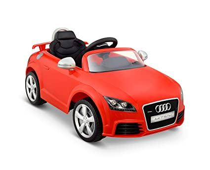 Amazoncom Kid Motorz Audi Tt Rs Red One Seater Car Red Toys Games - Audi tt