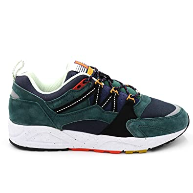 7d8032dd910fb Karhu Fusion 2.0 Green and Blue Suede and Nylon Sneaker: Amazon.co ...