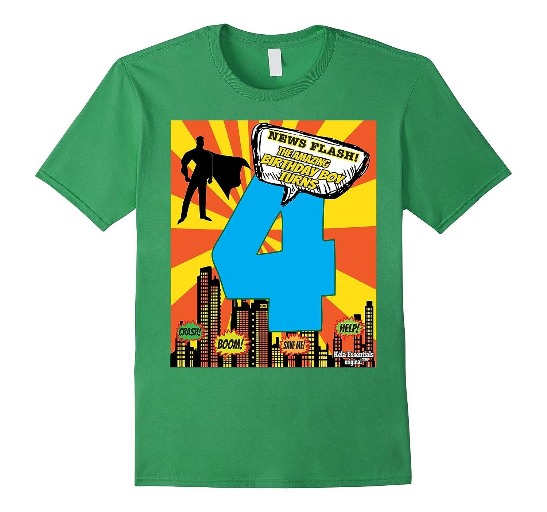 Superhero Birthday Shirts For Boys Size 4 Four Party Theme FL