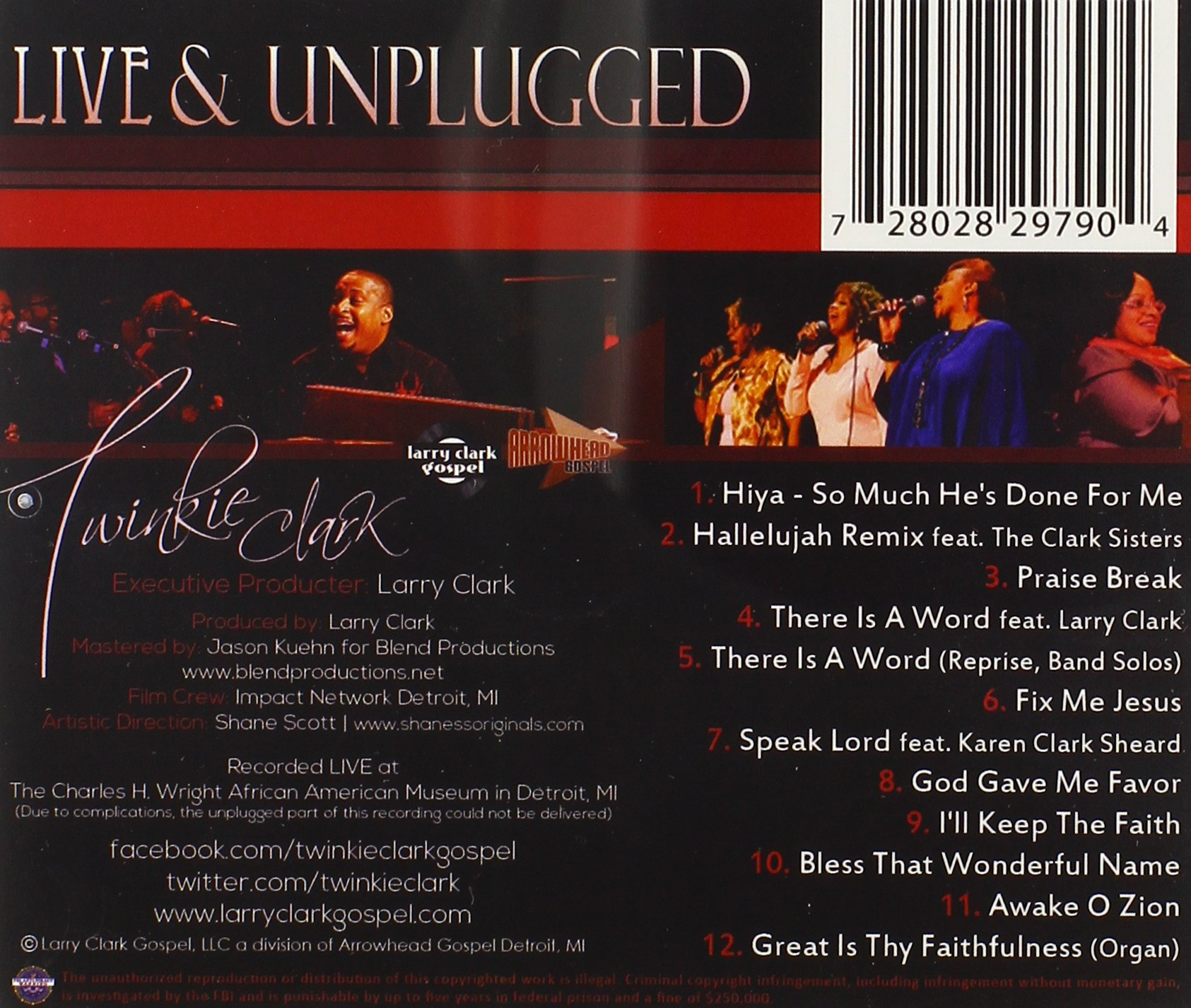 Live & Unplugged by Larry Clark Gospel