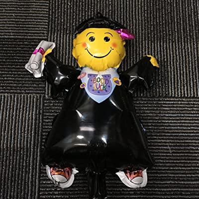Monkey Home Decoración del globo de la fiesta de graduación del globo de la forma del muchacho del graduado de 40 pulgadas Suministros (globo del muchacho del graduado): Juguetes y juegos