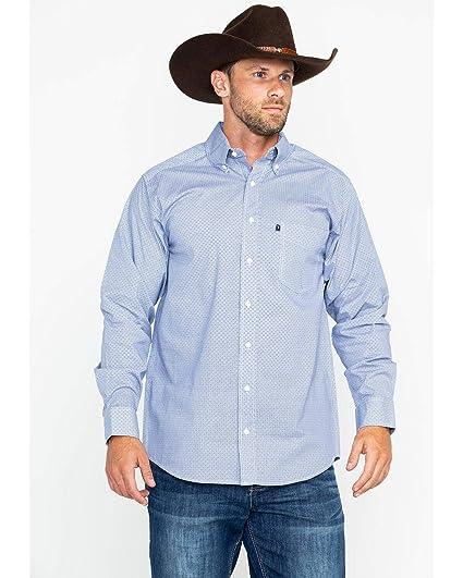 999e98442 Amazon.com: Tuf Cooper Performance Men's Blue Geo Print Long Sleeve ...