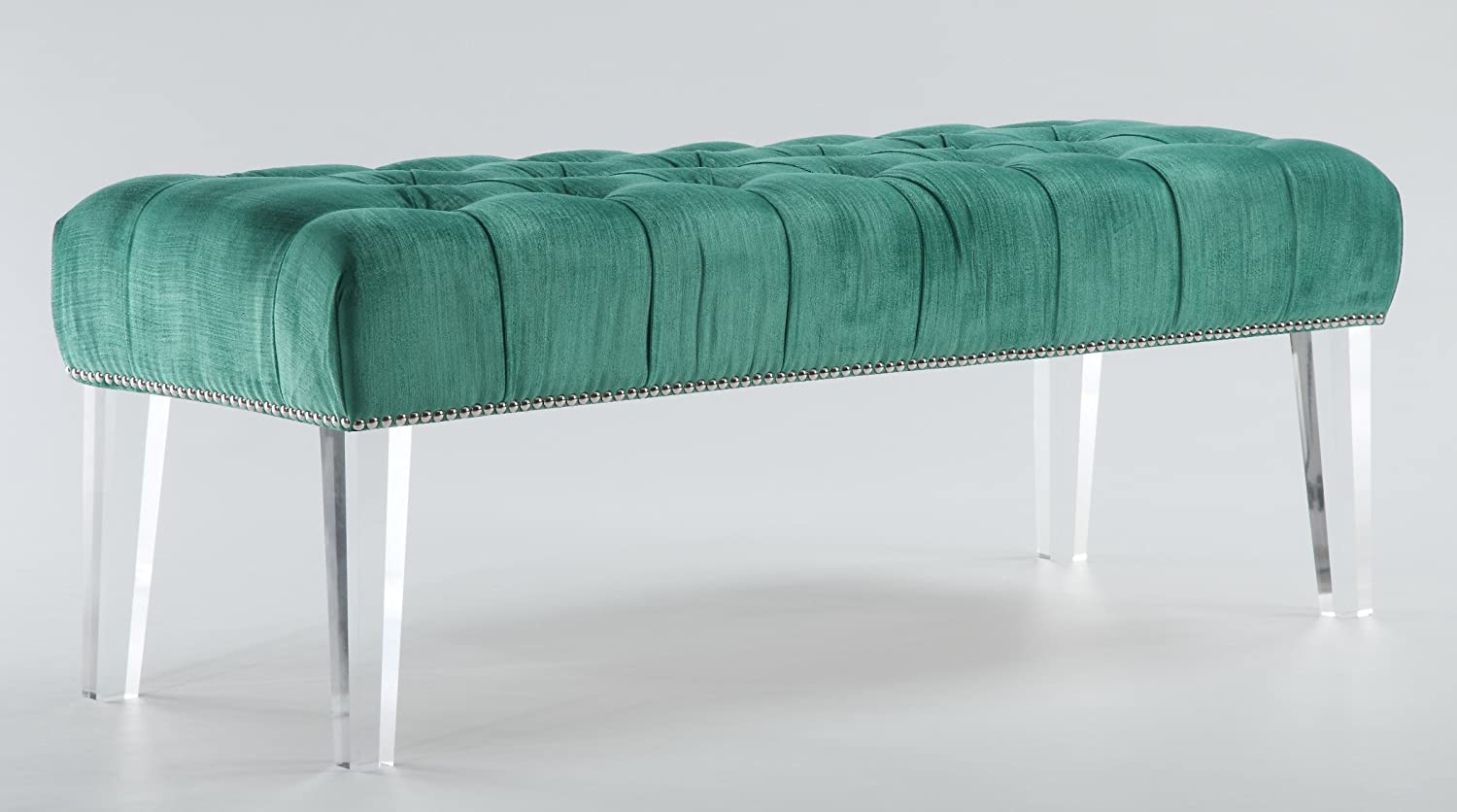 acrylic bedroom furniture. amazoncom tov furniture the stella collection modern velvet upholstered wood accent bench with lucite legs gray kitchen u0026 dining acrylic bedroom r