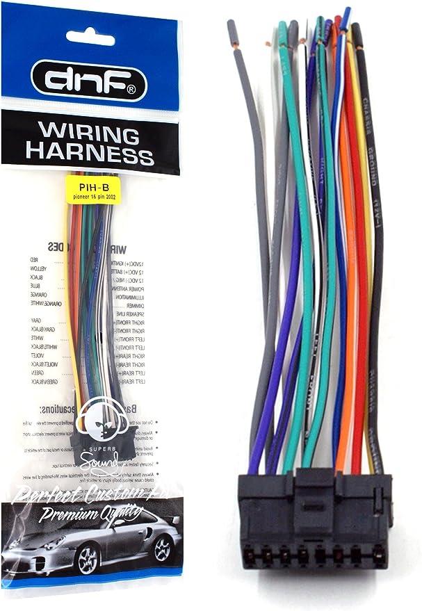 [DIAGRAM_5NL]  Amazon.com: DNF Pioneer Wiring Harness DEH-P43 DEH-P3450 DEH-P4300 DEH-P4400-100%  Copper Wires!: Automotive | Pioneer Deh P4400 Wiring Harness Diagram |  | Amazon.com