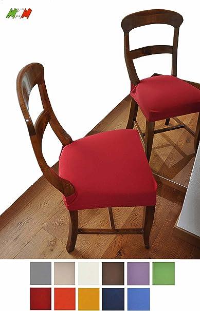 CASA TESSILE Antimacchia Coppia di Copri Seduta per Sedia Bluette