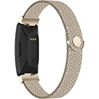 Adepoy Compatible with Fitbit Inspire Hr Bands, Stainless Steel Replacement Compatible for Fitbit Inspire/Ace 2 Metal…
