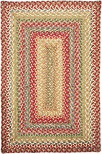 Homespice Rectangular Jute Braided Rugs, 27-Inch by 45-Inch, Azalea