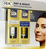 Roc Retinol Correxion Deep Wrinkle Night Cream, and Daily Moisturizer Spf 30 1.0 Fluid Ounces Each Box (Combo Pack)