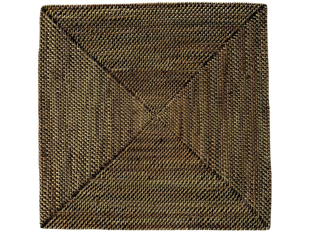 KOUBOO Nito Square, Set of 2 Pieces Placemat, 14 inches x 14 inches, Honey Brown - 14 inch long x 14 inch wide; only 0. 25 inch Thick, rigid and very even surface ensures Wine glasses stand firm Hand woven from nito; finished with a coating of clear, shiny lacquer Can be submerged in water for cleaning; Dry thoroughly after; not dishwasher safe - placemats, kitchen-dining-room-table-linens, kitchen-dining-room - 816f 0rfu6L -