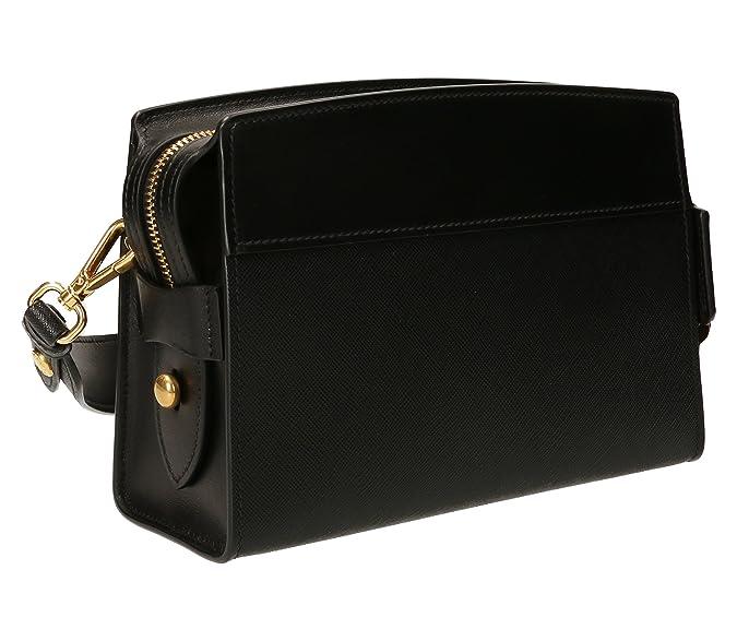 Prada Black Leather Clutch Bag With Shoulder Strap 1bh043 Waist bag  Amazon.ca   Shoes   Handbags ffa3a956f62cb