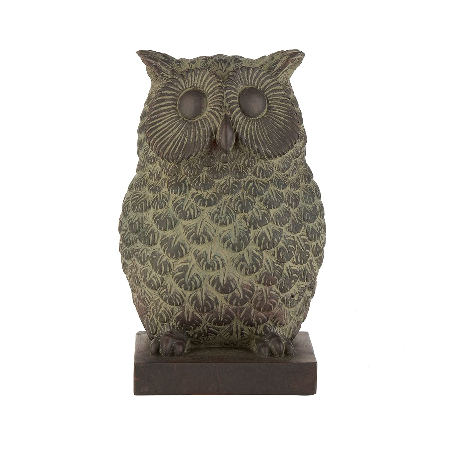 Gisela Graham Brown Resin Owl Bookends