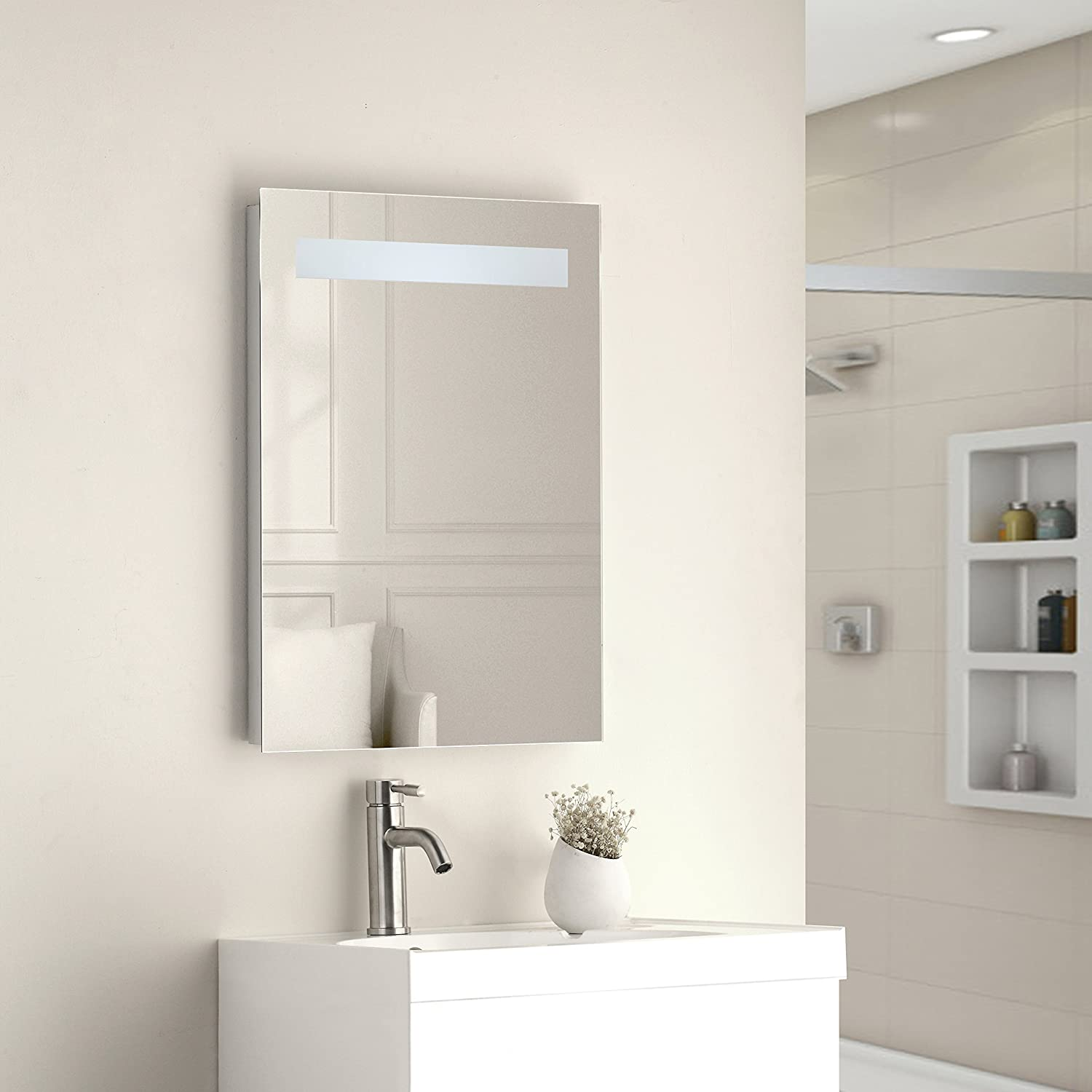 Tailored Plumb 700 x 500mm 80 LED Illuminated Touch Bathroom Mirror Demister With Shaver Socket IP44