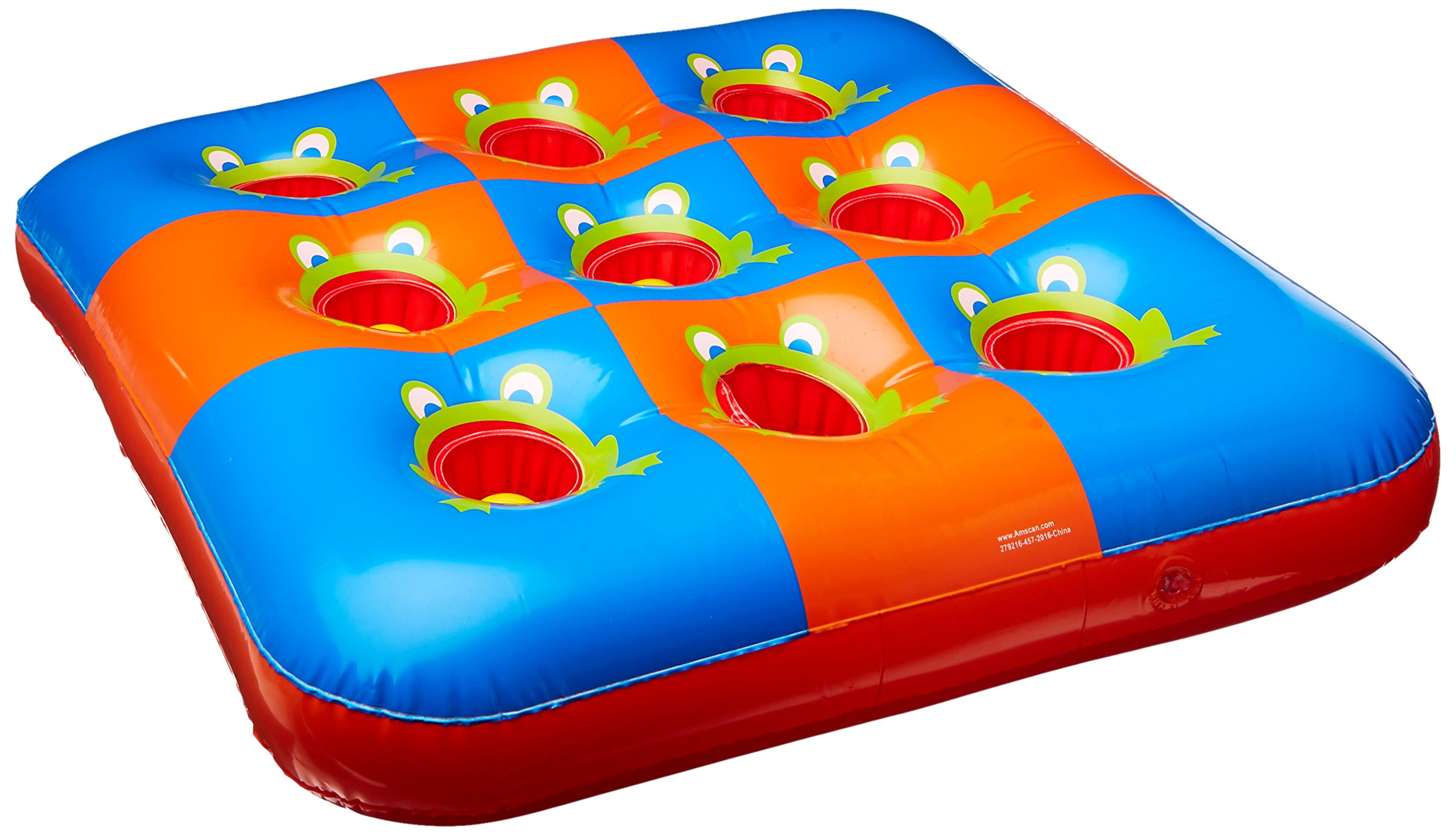 Carnival Fair Fun Inflatable 3 In A Row Game Party Activity, Plastic, 27'' x 27'', Pack of 9 by Amscan