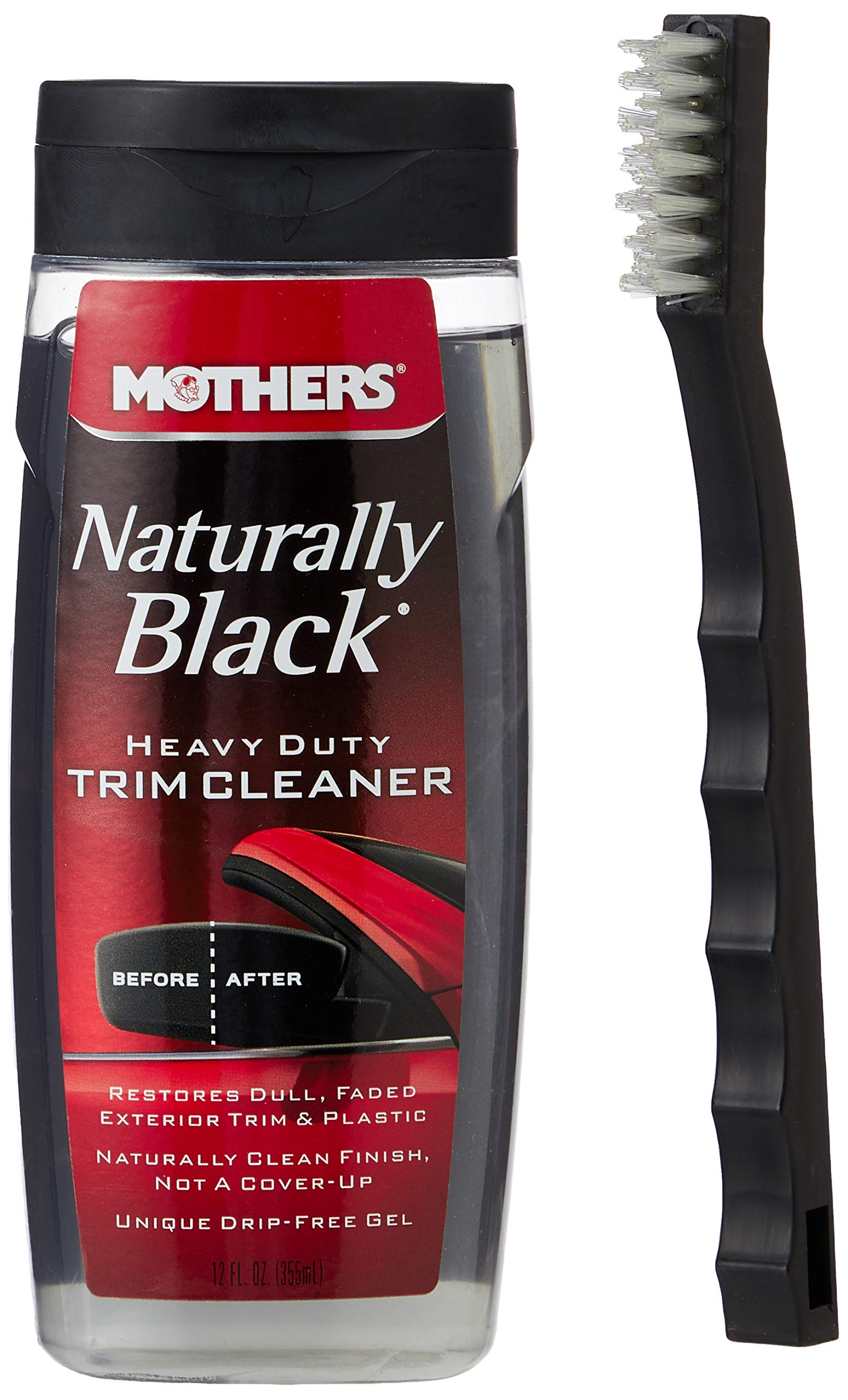 MOTHERS MO-46141 Naturally Black Heavy Duty Trim Cleaner with Brush