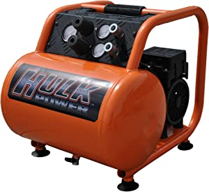 1.5 HP Quiet Portable Air Compressor, 125 PSI, 5 Gallon, HULK Silent Series, Model HP15P005SS by EMAX Compressor