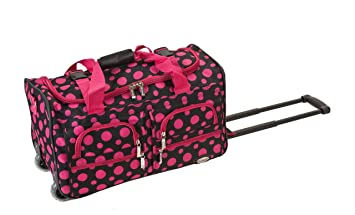 70c65a09d1 Image Unavailable. Image not available for. Color  Rockland Luggage Rolling  22 Inch Duffle Bag ...