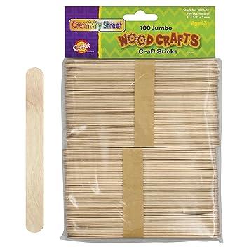 amazon com pacon jumbo natural craft sticks 100 pieces per pack