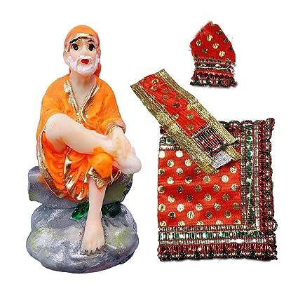 Buy Salvus App Solutions Sai Baba Murti with Red Sai Baba