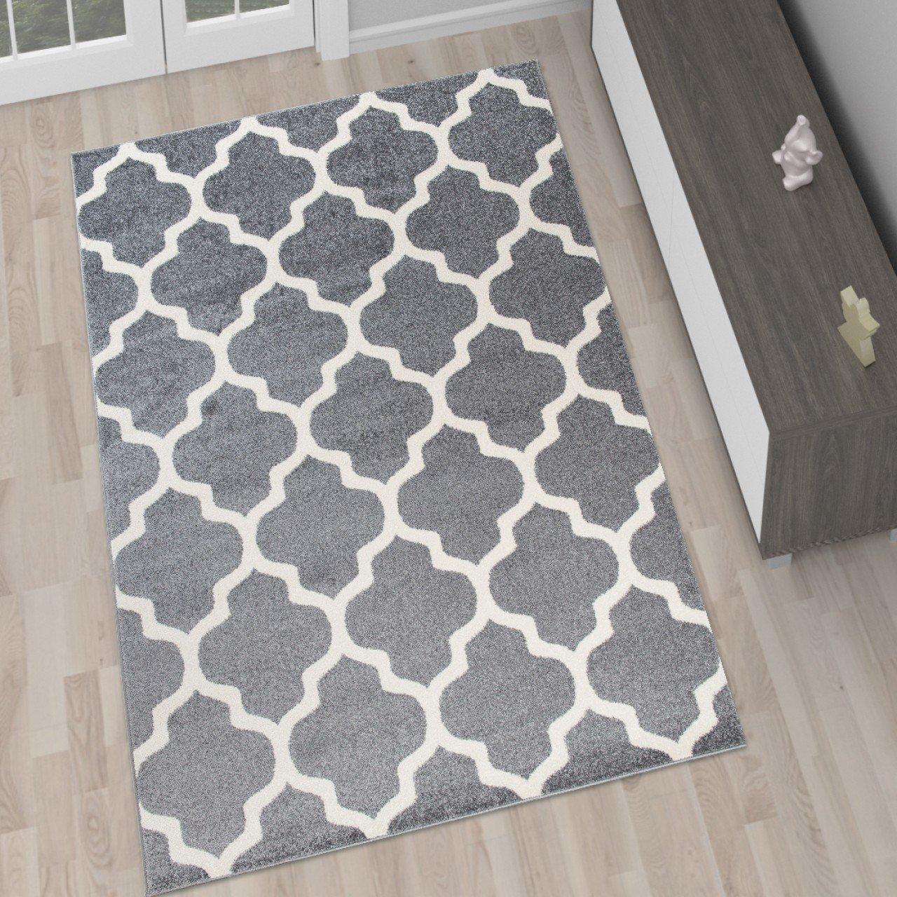 Amazon.de: Tapiso Designer Teppich Wohnzimmer Teppich GRAU MODERN ...