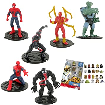 Marvel Comansi Lote Ultimate 6 Figuras Spiderman ywNn0vm8OP