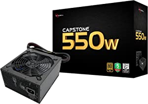 Rosewill Computer Gaming Power Supply, Modular 80 PLUS Gold 550W PC Desktop PSU, Silent 135mm Fan, ATX12V/EPS12V, SLI & CrossFire Ready - CAPSTONE 550