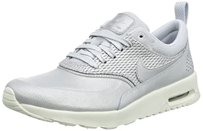 041120cfc3 Nike Women's Air Max Thea Premium Trainers, Grey (Metallic Sail/Pure  Platinum)