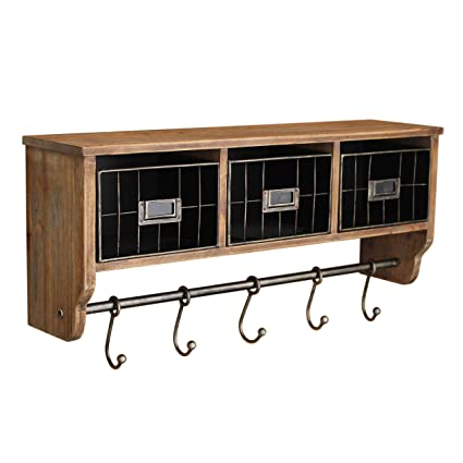 Surprising Rustic Coat Rack Wall Mounted Shelf With Hooks Baskets Entryway Organizer Wall Shelf With 5 Coat Hooks And Cubbies Solid Wooden Shelf With Hooks Download Free Architecture Designs Rallybritishbridgeorg