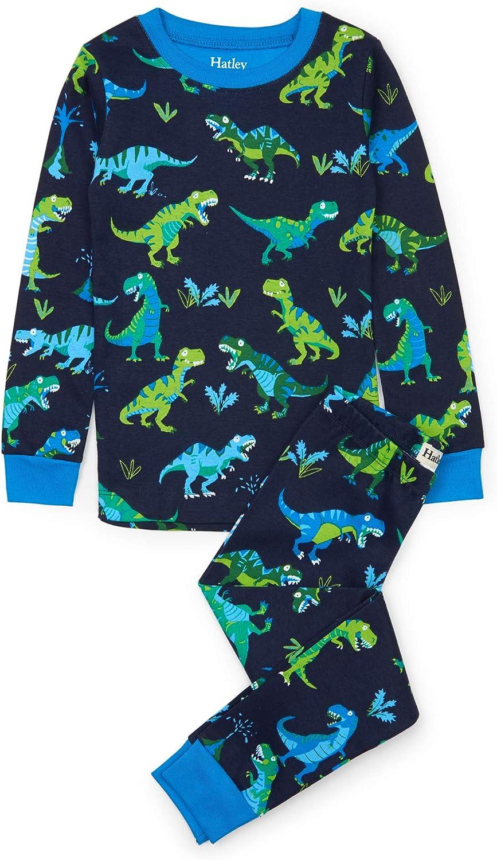 Hatley Girls Organic Cotton Long Sleeve Printed Pyjama Sets Ensemble Gar/çon