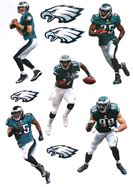 07b344090 Philadelphia Eagles Mini FATHEAD Team Set 5 Players + 4 Eagles Logo ...