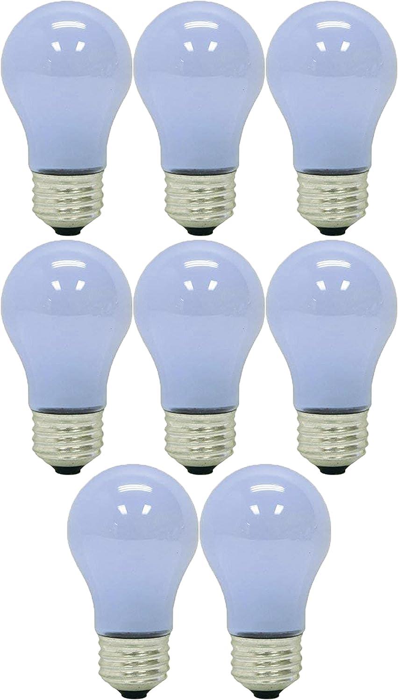 GE Lighting 40-Watt; 260-Lumens 1.4 Year Life Reveal Ceiling Fan Frost A15 Light Bulbs (8 Bulbs)