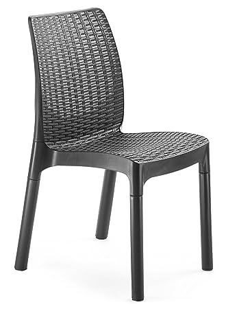 Amazonde Keter Kunststoffstühle Bistro 6er Set Kunststoffstühle
